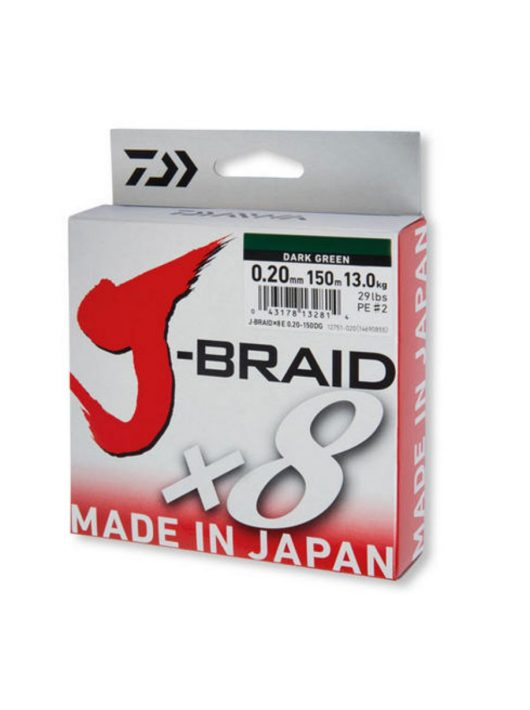 Daiwa J-Braid X8 150m dark green