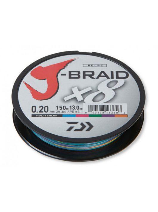 DAIWA J-Braid X8 150m multicolor